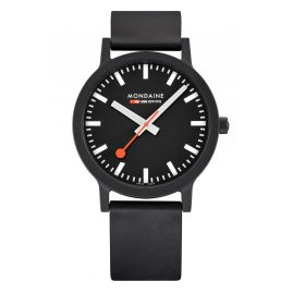 Mondaine MS1.41120.RB Herrenuhr Essence Schwarz