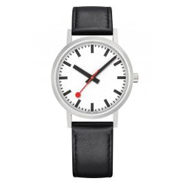 Mondaine A660.30314.16OM Watch with Leather Strap Unisex Classic