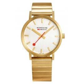 Mondaine A660.30314.16SBM Unisex-Armbanduhr Classic Goldfarben