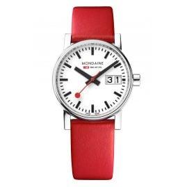 Mondaine MSE.30210.LC Women's Watch Big Date Red evo2