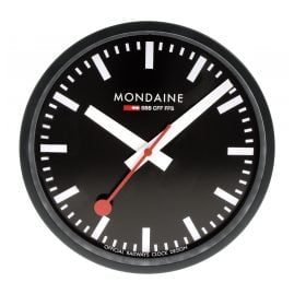 Mondaine A990.CLOCK.64SBB Wall Clock Quartz 25 cm Black