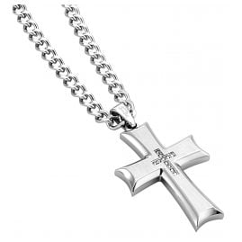 Police PJ26160PSS.01 Cross Pendant Mens Necklace Zeal