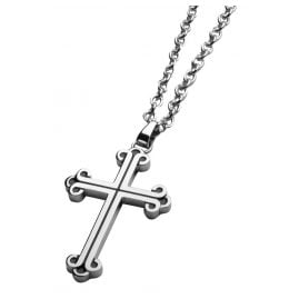 Police PJ26340PSS.01 Cross Pendant Men's Necklace Doolin