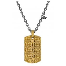 Police PJ26565PSQG.03 Men's Necklace Dog Tag Engawa