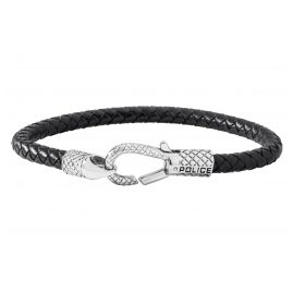 Police PJ26491BLB.01 Leather Men's Bracelet Niland Black