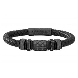 Police PJ26458BLB.01 Leather Men's Braclet Longford