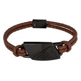 Police PJ26559BLB.02 Men's Leather Bracelet Matobo Brown