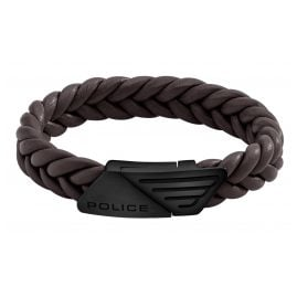 Police PJ26558BLB.03 Men's Bracelet Barnhill Brown Leather