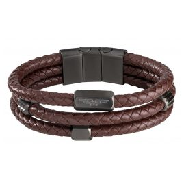 Police PEJGB2009022 Men's Bracelet Brown Leather Vigan