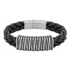 Police PEJGB2112312 Men's Bracelet Black Leather