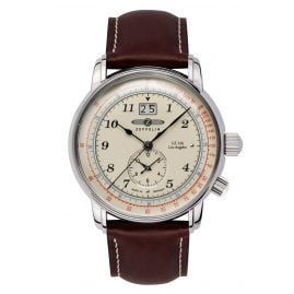 Zeppelin 8644-5 Mens Watch LZ126 Los Angeles Dual-Time