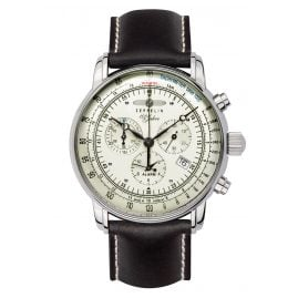 Zeppelin 8680-3 Alarm-Herrenchronograph 100 Jahre Zeppelin