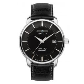Zeppelin 8452-2 Gents Automatic Watch Atlantic Swiss Black Leather Strap