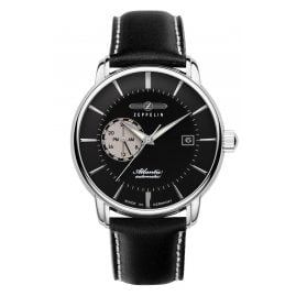 Zeppelin 8470-2 Men's Automatic Watch Atlantic Black Leather Strap