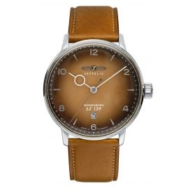 Zeppelin 8046-4 Men's Watch LZ129 Hindenburg with Light Brown Leather Strap