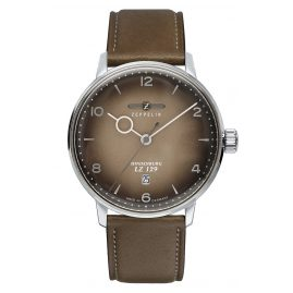 Zeppelin 8046-5 Gent's Watch LZ129 Hindenburg Taupe Leather Strap
