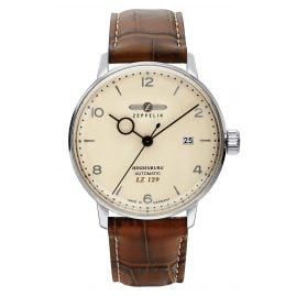 Zeppelin 8062-5 Men's Automatic Watch LZ129 Hindenburg Brown Leather Strap