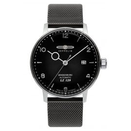 Zeppelin 8062-M2 Automatic Men's Watch LZ129 Hindenburg Black Mesh Strap