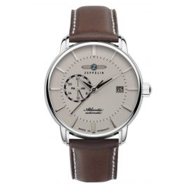 Zeppelin 8470-5 Men's Automatic Watch Atlantic Brown Leather Strap