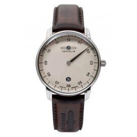 Zeppelin 8642-5 Herren-Armbanduhr New Captain's Line Monotimer Braun/Beige