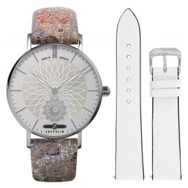 Zeppelin 8131-1 Women's Watch Set Mandala with 2 Leather Straps