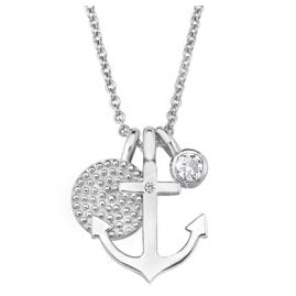 s.Oliver 2017246 Silver Ladies Necklace Anchor