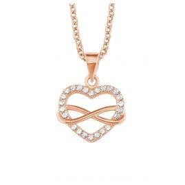s.Oliver 2020988 Damen-Halskette Unendliche Liebe Rosé