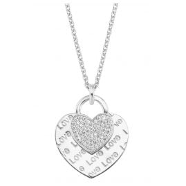 s.Oliver 2026089 Ladies' Necklace Silver with Heart