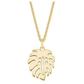 s.Oliver 2027561 Women's Necklace Leaf Gold Plated Silver