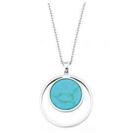 s.Oliver 2027577 Women's Necklace Silver Turquoise Pendant