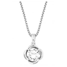 s.Oliver 2027679 Silver Necklace for Women Blossom Zirconia