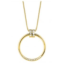 s.Oliver 2027628 Ladies' Ring Pendant Necklace Gold IP Stainless Steel