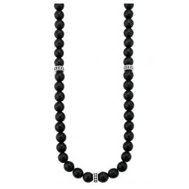s.Oliver 2028416 Men's Necklace Black Agate