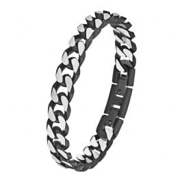 s.Oliver 9954490 Men's Curb Chain Bracelet Stainless Steel Black