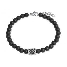 s.Oliver 2022628 Herren-Armband Onyx Schwarz