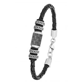 s.Oliver 2026108 Men's Leather Bracelet