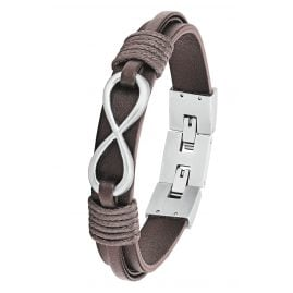 s.Oliver 2026140 Men's Leather Bracelet Brown