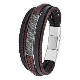 s.Oliver 2026110 Leather Bracelet for Men