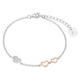 s.Oliver 2027842 Silber Damen-Armband mit Herzen