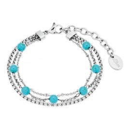 s.Oliver 2027605 Women's Bracelet Stainless Steel silver / turquoise