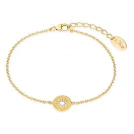 s.Oliver 2027621 Ladies Bracelet Gold Plated Silver Zirconia