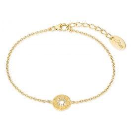 s.Oliver 2027621 Damen-Armband Armkette Silber vergoldet Zirkonia