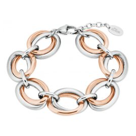 s.Oliver 2027619 Women's Bracelet Stainless Steel Two-Colour Rose