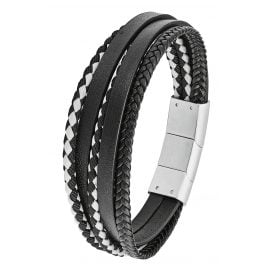 s.Oliver 2028403 Men's Leather Bracelet