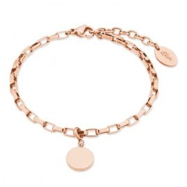 s.Oliver 2028466 Ladies Bracelet Rose Gold Plated Steel