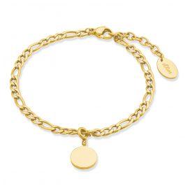 s.Oliver 2028469 Damen-Armband Armkette Edelstahl gold plattiert