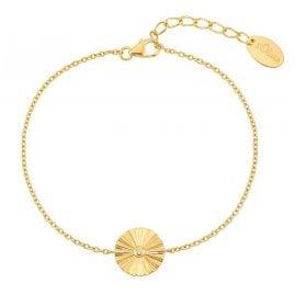 s.Oliver 2031438 Damen-Armkettchen Silber vergoldet