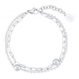 s.Oliver 2031475 Damen-Armband Edelstahl