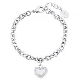 s.Oliver 2031482 Damen-Armband Herz Edelstahl