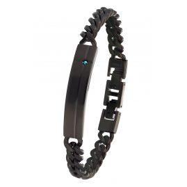s.Oliver 2032547 Men's Bracelet Stainless Steel Cross Black